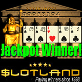 Video poker progressive jackpot winner at Slotland