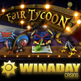 New Fair Tycoon slot machine with bonus game at winadaycasino.com
