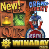 Liberty Bell Rings in WinADayCasino New Grand Liberty Casino Game with Bonus Games Free Spins
