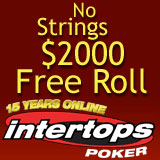 Intertops Poker Hosts No Strings Free Roll Poker Tournament