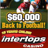 Intertops Casino Celebrates Start of NFL Season with $60,000 Back to Football Cash Giveaways