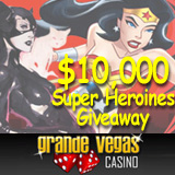 Grande Vegas Celebrates Female Super Heros with $10K  Super Heroines Leaderboard