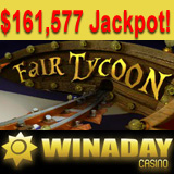 WinADay Casino Slot Games Jackpot Hit Again for over 160K