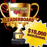 Grande Vegas Casino 10K Back to School Leaderboard Challenge Now Underway and Slots Tournament Next Week