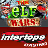 Rudolph Battles Santa and his Elves in Intertops Casino New The Elf Wars Slots Game