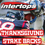Intertops Sportsbook Offering Stake Back on Thanksgiving Day NFL Bets