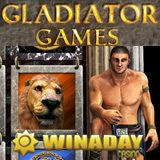 WinADay Casino New Gladiator Games Slot has Animated Bonus Game that Transports Players to a Coliseum Lion Duel