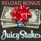 Juicy Stakes Poker Offering Reload Bonus over Christmas Break