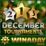 WinADay Casino December Slots Tournaments and Festive Fridays Casino Bonuses Continue All Month