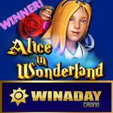 WinADay Casino Jackpot Winner Goes Down the Rabbit Hole and Comes Out Richer