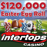 Intertops Players are Rolling in Cash during the Easter Egg Roll Casino Bonus Giveaway