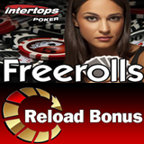 Freeroll tournaments and Reload Bonus at Intertops Poker this Weekend