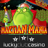 Casino bonus for Martian Mania online slot at Lucky Club Casino
