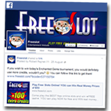 Freeslot Players Increase Chances of Winning Free Slots Tournaments by Visiting Facebook Page