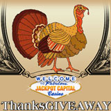 Jackpot Capital Thanksgiveaway Awarding Casino Bonuses Cash Prizes and Free Spins
