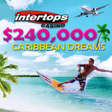 Intertops Casino Players Diving for Treasure during Epic Caribbean Dreams Casino Bonus Event